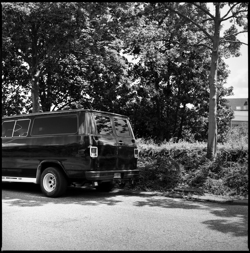 black chevy van